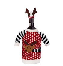 Merry font b Christmas b font Red Wine Bottle Cover Bags font b Decoration b font