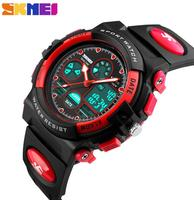 SKMEI Children S Watches Fashion Sport Military Waterproof Wristwatches Dual Time LED Digital Quartz Watch For