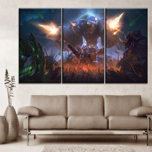 Modular Picture 3 Piece Game Heroes of the Storm Modern Living Room Wall Art Poster Home Decor Framework Canvas Print Painting