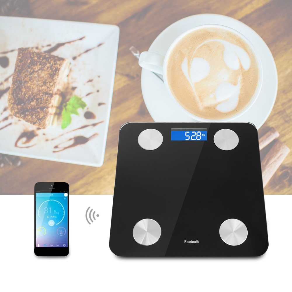 Bluetooth Smart Body Fat Weighing Scale Electric Digital Weight Health Balance Scale Toughened Glass LCD Display 180kg/50g цена и фото