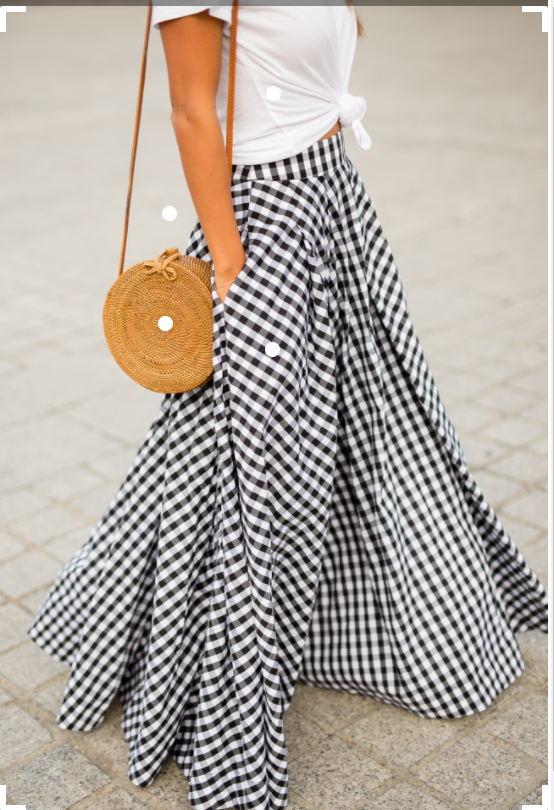 WBCTW Vintage Langen Roten Plaid Frauen Röcke A-linie Stil Maxi sommer Frühling Runway Faldas Mujer Plus Größe Hohe Taille röcke