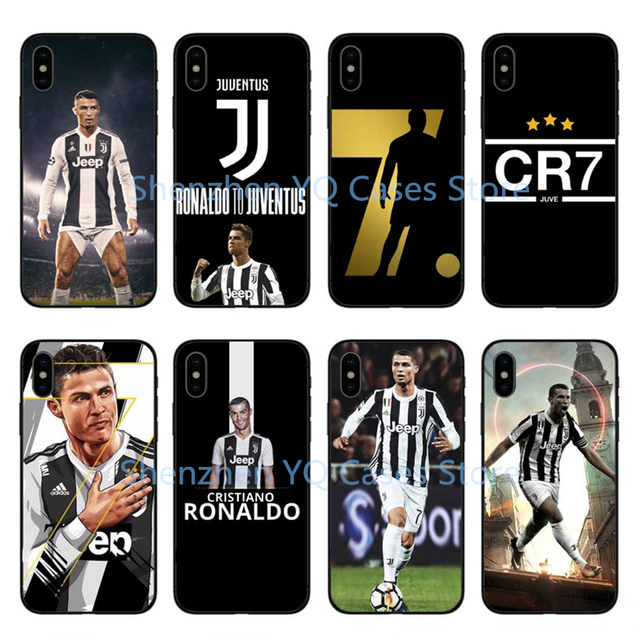 sale retailer cc41b bddd2 US $2.09 |Juventus Football star Real Cristiano Ronaldo CR7 Cover For  iPhone X 10 soft silicone Phone Case for iPhone 5s se 6 6s 7 8 Plus-in ...