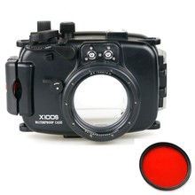 Meikon Underwater Waterproof Housing Camera Case for Fuji X100S Fujifilm X100S Camera With Red Filter 67mm цена и фото