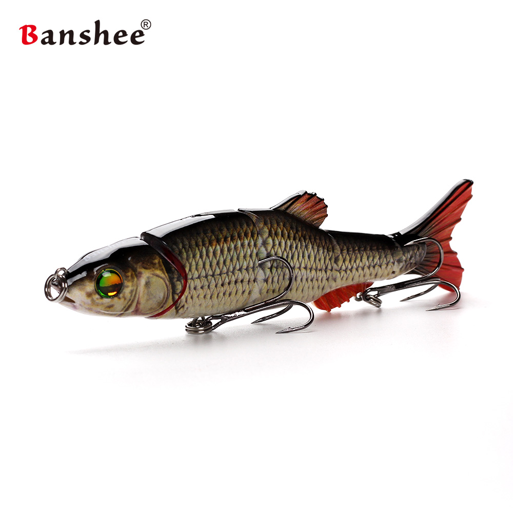 1pcs Pike Fishing Lure Lifelike Multi Jointed Swimbait VMJM05-6.5 Realistice isca Artificial Hard Bait peche leurre Pesca