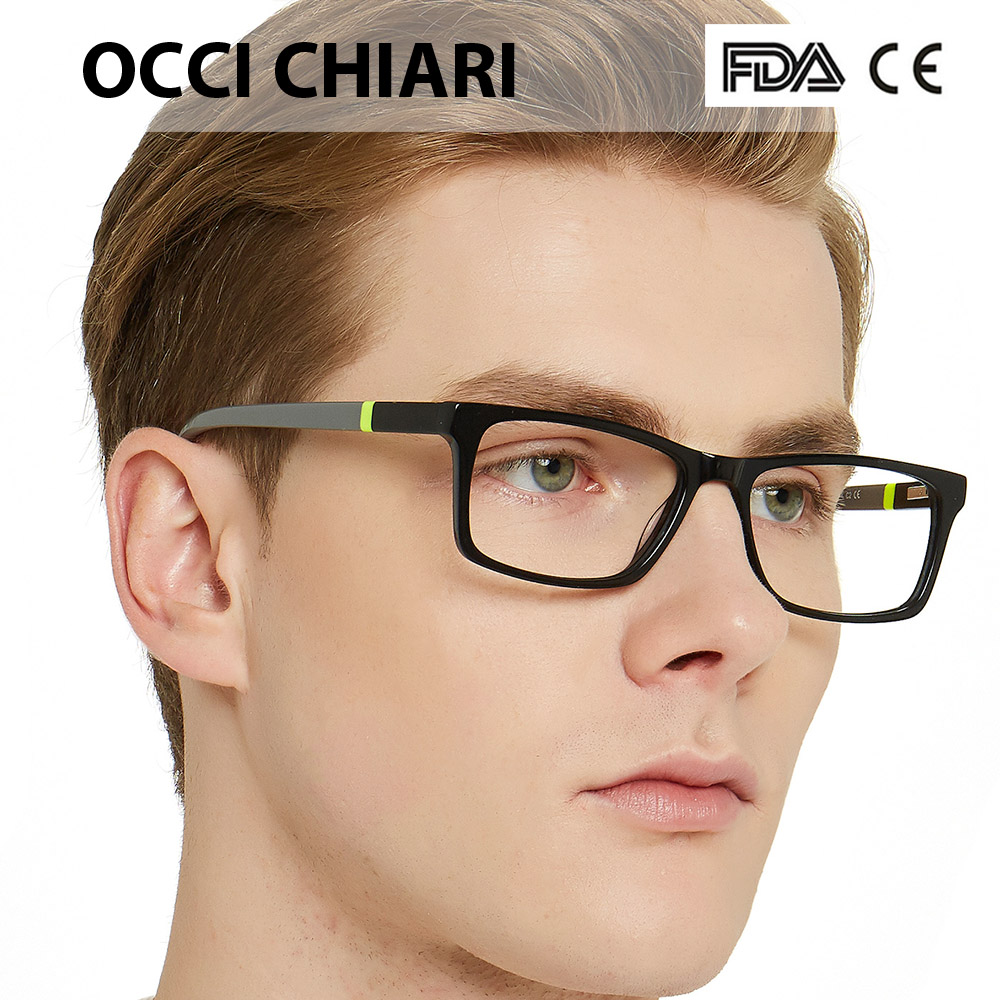 Image 3 - NEW DESIGN Fashion Men Square Metal Frames Optical Glasses Transparent Clear Lens reading Glasses OCCI CHIARI OC7007-in Men's Eyewear Frames from Apparel Accessories
