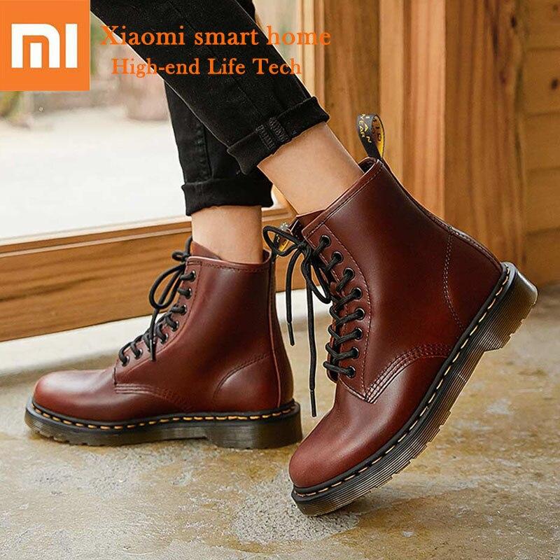 Xiaomi Mijia Martin bottes résistant à l'usure roue PVC semelle antidérapante semelle souple en cuir chaussures magnifique Cool sentiment hommes femmes intelligentes