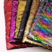 130cm Width*91cm Length Sequin Fabric Mermaid Reversible Sparkly Color Changeable Sheet Sequin Fabric for Clothes/Part Cushion