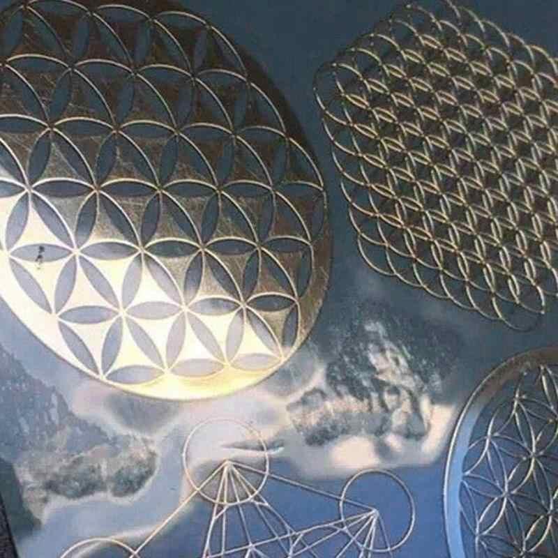 4 قطعة/المجموعة جديد معدن الطاقة ديكور ملصق زهرة الحياة