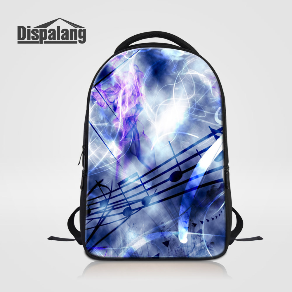 Dispalang Fashion Laptop Backpack Men Business Backpack Music Note Print Notebook Bag Art School Bag Travel Backpack For Women 14 15 15 6 inch flax linen laptop notebook backpack bags case school backpack for travel shopping climbing men women