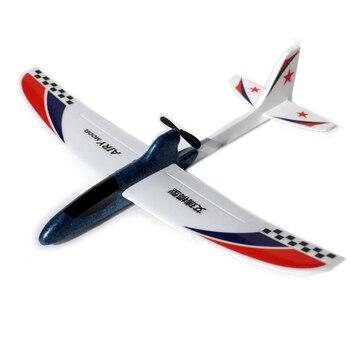 a5a12536c3 RC Avión de espuma EPP mano tirar eléctrica DIY modelo de avión al aire  libre lanzamiento