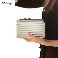 17 5 11 7CM Mini Makeup Cosmetic Storage Box Bright Colorful Women S Clutch Travel Portable