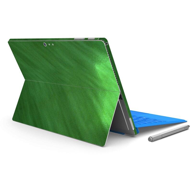 Зеленый глянцевый защитный наклейка протектор ПВХ кожного покрова Наклейки для микро для Surface Pro 4