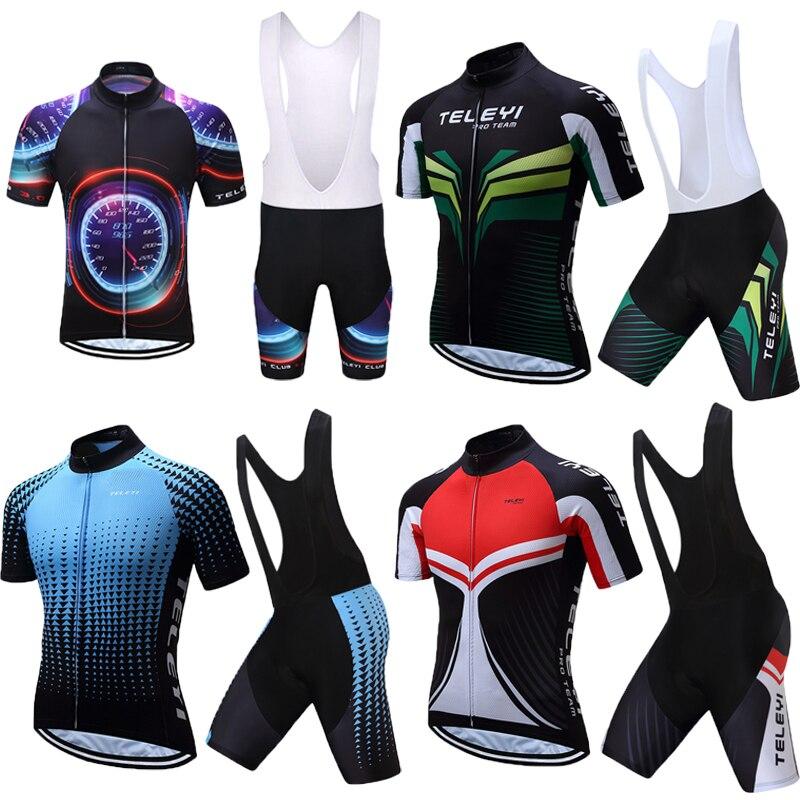Teleyi Summer Racing Bike Clothing 2018 Men Short Sleeve Bicycle Clothes Maillot Triathlon Wear Skinsuit Cycling Jersey Uniform