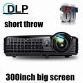 Newest !Short throw Daylight Portable Education Overhead DLP Projector 5500lumens HDMI Full HD 1080p Shuter 3D Video projectors