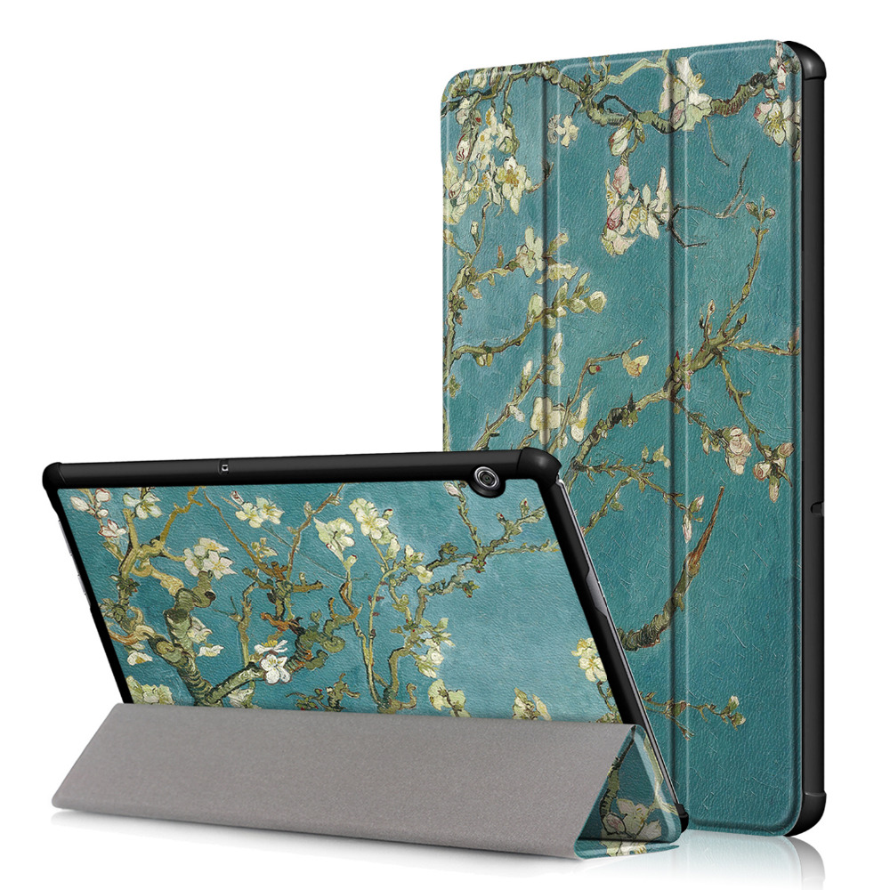Slim Flip Stand PU Leather Skin Coque Funda Shell Case Magnet Cover For Huawei Mediapad T5 10 AGS2-W09/L09/L03/W19 Tablet