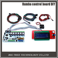 Lower price BIQU Rumba control board DIY+LCD 2004 controller display +jumper wire +DRV8825 Stepper driver for reprap 3D printer