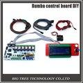 Menor preço placa de controle DIY + display LCD 2004 controlador Rumba BIQU + jumper + DRV8825 Stepper driver para impressora 3D reprap