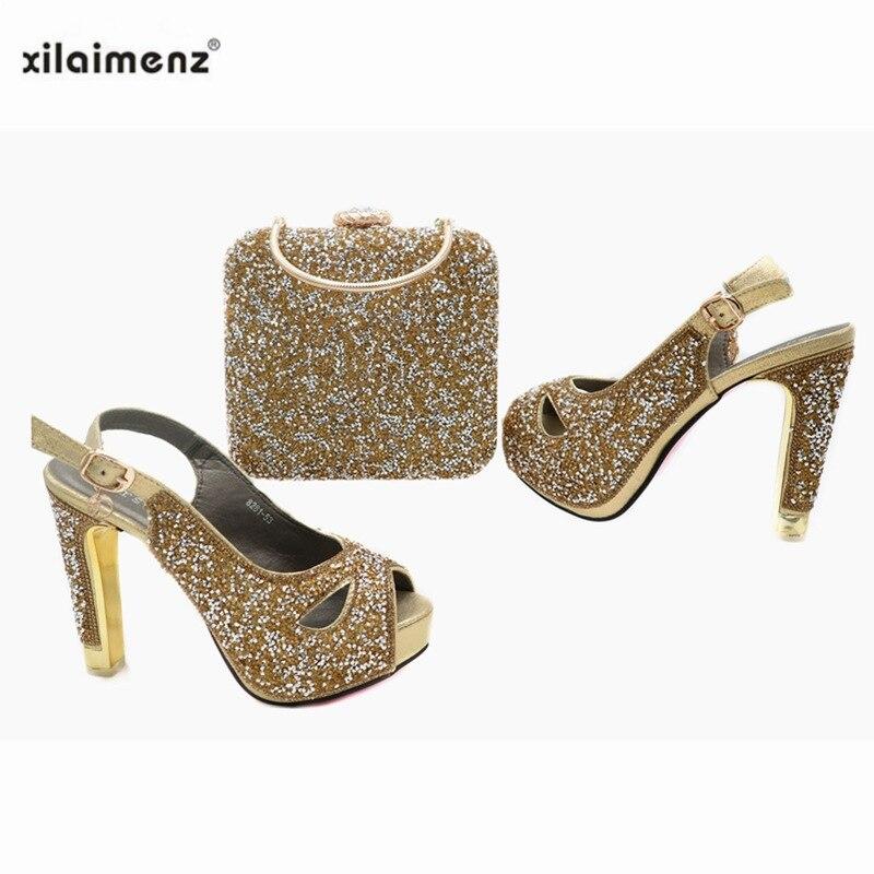 Extrêmement Chaussures femmes luxe paillettes boucle rivets Club-Fête Elegent Bottes