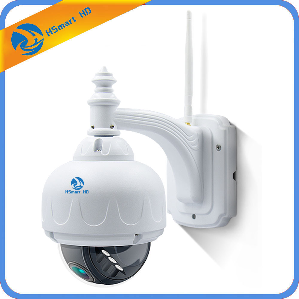 Wireless IP Speed Dome Camera Wifi HD 1080P PTZ Outdoor Security MIC Audio CCTV 2.7-13.5mm Auto Focus 5X Zoom SD Card ONVIF IPC
