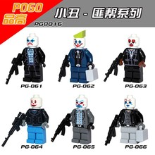 60pcs PG8016 Super heros Minifigures Joker Building blocks bricks DIY Action Baby toys en Gift Toy