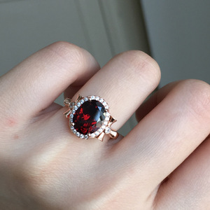 Image 3 - [MeiBaPJ Natural Red Garnet Gemstone Trendy  Ring for Women Real 925 Sterling Silver Charm Fine Jewelry