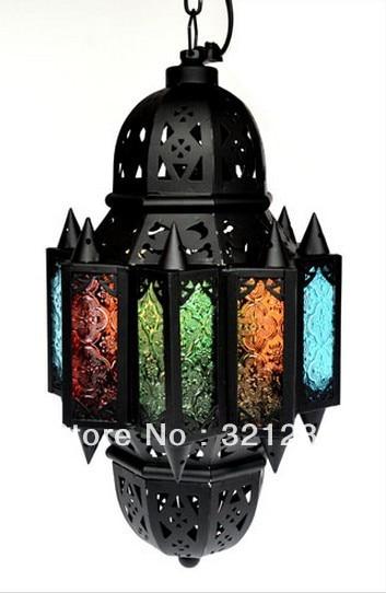 Morocco Style Pendant Light Figured Gl Balcony