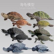 Ручная работа имитация ПВХ твердая морская черепаха фигурка ручная работа модель песок стол Модель игрушка