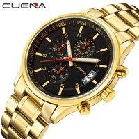 2018 Forsining Mens Watches Top Luxury Brand Men Quartz Watch Waterproof 30M Men Gold Wrist Watch