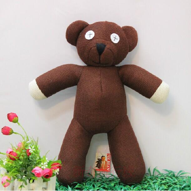 2018 Free shipping Hot Sale 23cm Height Mr Bean Teddy Bear Animal Stuffed Plush Toy For Children Gift Brown Color Christmas Gift