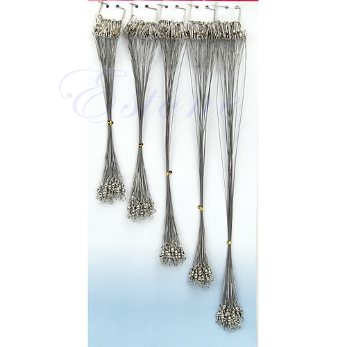 Hot Sale Fishing Trace Lures Leader Steel Wire Spinner Silver 16/18/22/24/28cm