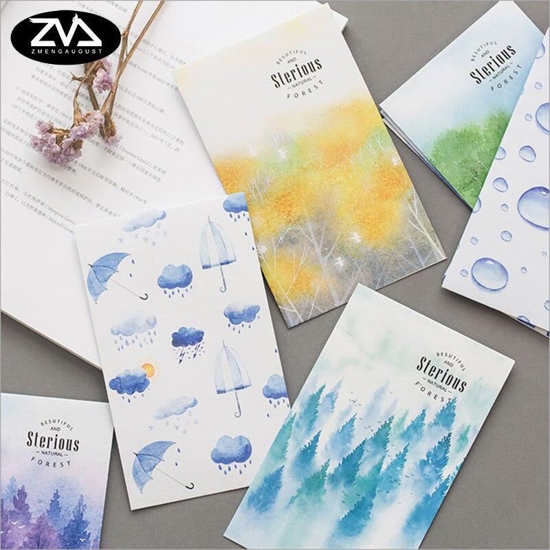 5pcs/lot Misty Forest Envelopes Letterhead Office Stationery Writing Paper Stationery Kawaii Birthday Christmas Card Envelopes