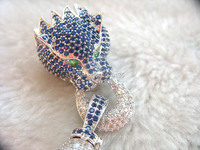 blue /red/ white /color leopard jewellery pearl clasp lock FPPJ hook