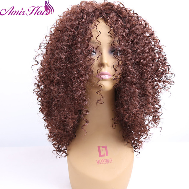 Amir Hair Natural Afro Wig Kinky Curly Wigs For Black Women Best Synthetic Female Wig Short Hair Wigs For Black Women Heat Resis