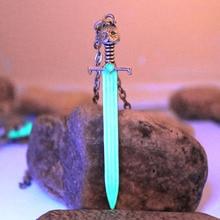 Игра престолов, меч Старка, волка, светящееся ожерелье, Джон Сноу, валирийское стальное лезвие, длинный коготь, кулон, светится в темноте, подарок