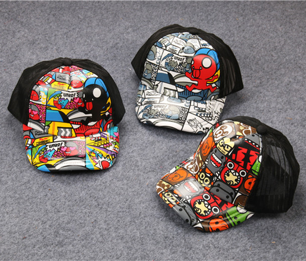 Lovely Graffiti Pattern Hiphop Children Baseball CAP Holiday Tourism Hat Autumn Parent-child cap