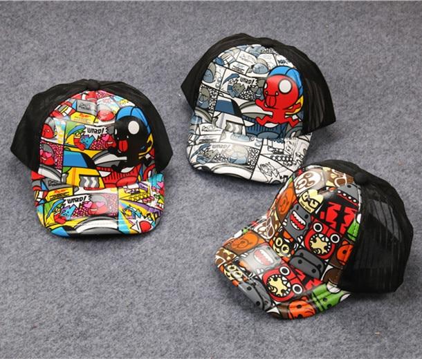 Pintada patrón Hiphop gorra de béisbol niños Turismo de vacaciones sombrero de otoño casquillo del padre-niño