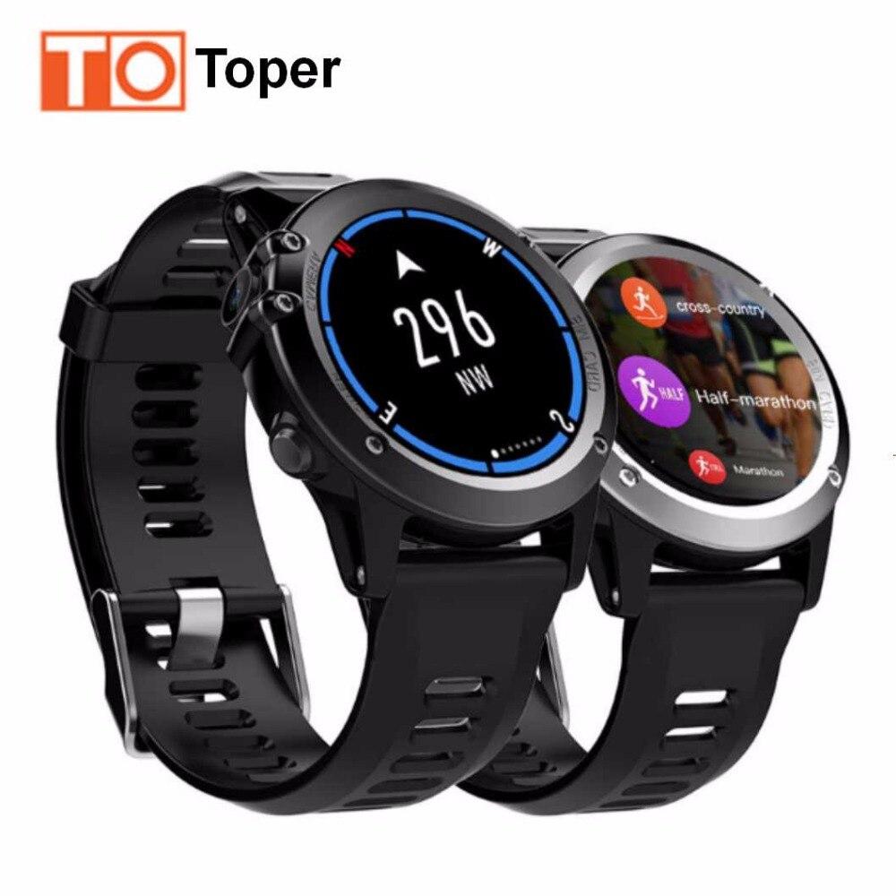 imágenes para Toper H1 GPS Wifi 3G Cámara Del Reloj Inteligente Android OS MTK6572 IP68 A Prueba de agua 400*400 Monitor de Ritmo Cardíaco 4 GB/512 MB para Android IOS