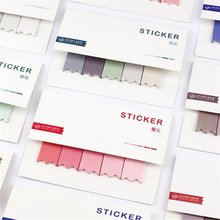 1pc Creative Color Gradient Notes Book Portable Blank Mood Message Stickers Office Supplies
