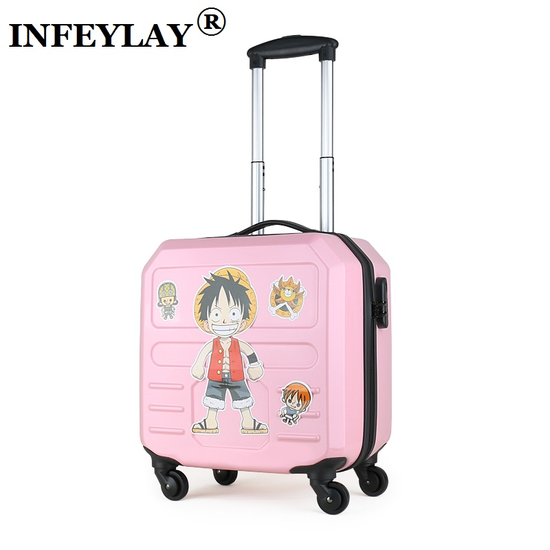 14 inches creative computer case girl students ABS+PC trolley case woman Travel luggage suitcase business Boarding box kids gift new 3u ultra short computer case 380mm large panel big power supply ultra short 3u computer case server computer case