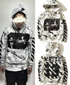 Free Shipping Kanye West Fear of God White 13 Hoodies OFF WHITE Hoodie Justin Bieber Chris Brown GD Hip hop Sweatshirts
