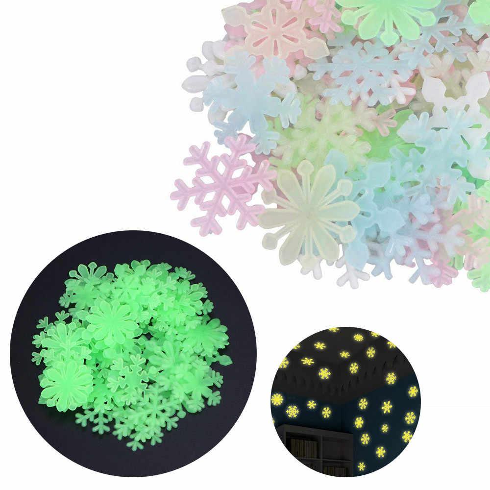 50 pçs/saco 3 centímetros Brinquedos Luminous Brilham no Escuro Adesivo Estrela Quarto Sofá Brinquedo Pintura Fluorescente Adesivos de PVC para quarto dos miúdos