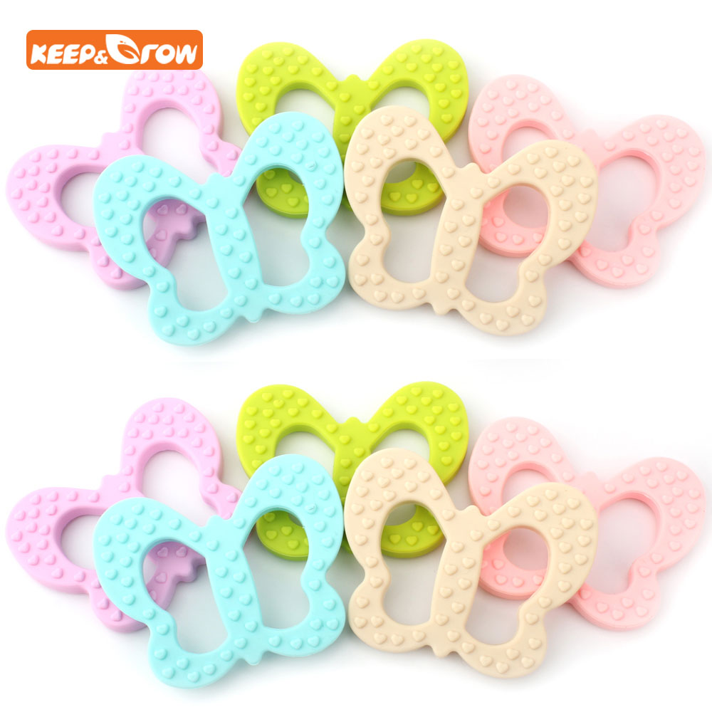 Keep&grow Butterfly Koala Silicone Teether Baby Teething Toys Animal Baby Gift Food Grade Teething Necklace Silicone Teether