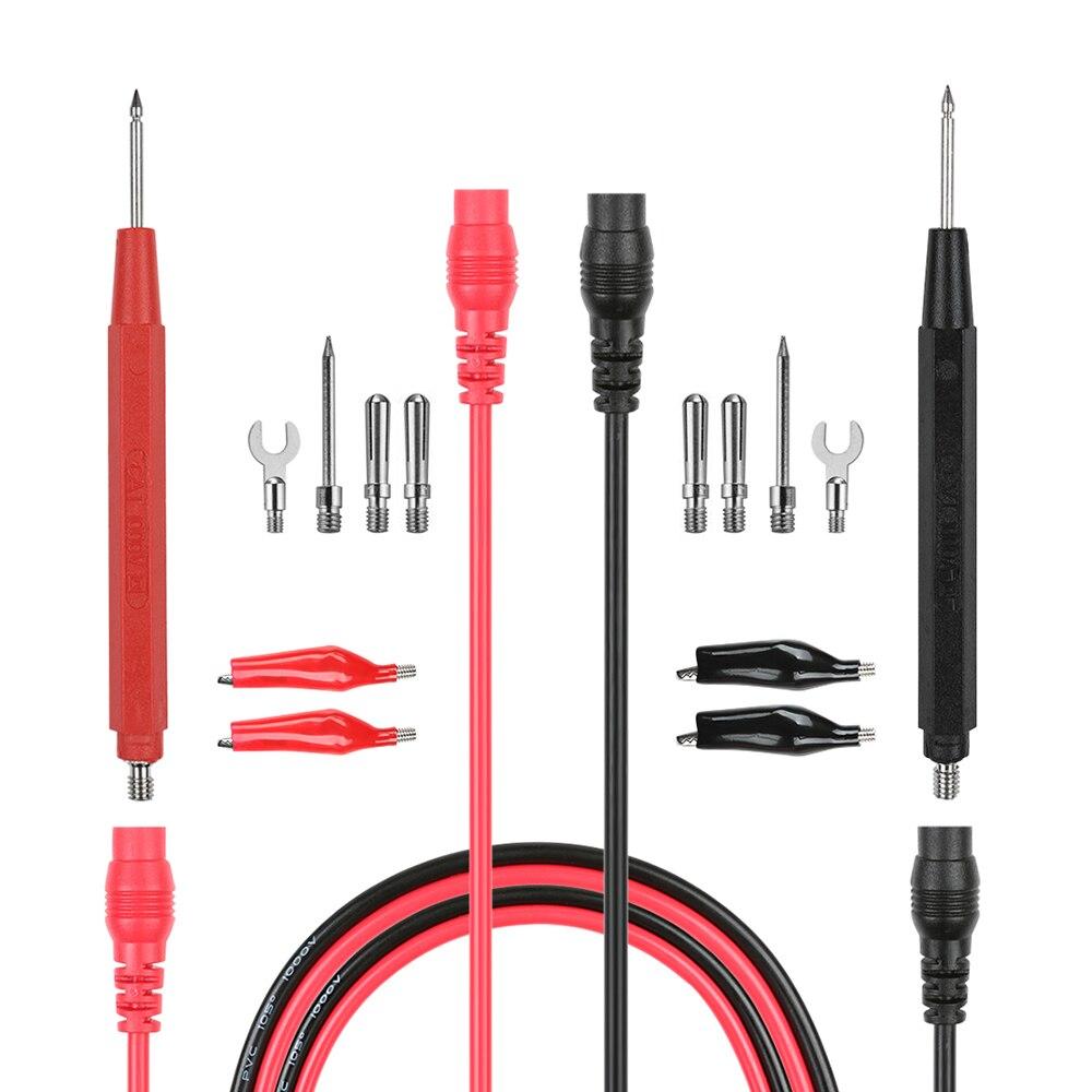 Multímetro de alta calidad lleva par prueba Sonda Cable Digital Cable Medidor de Voltaje