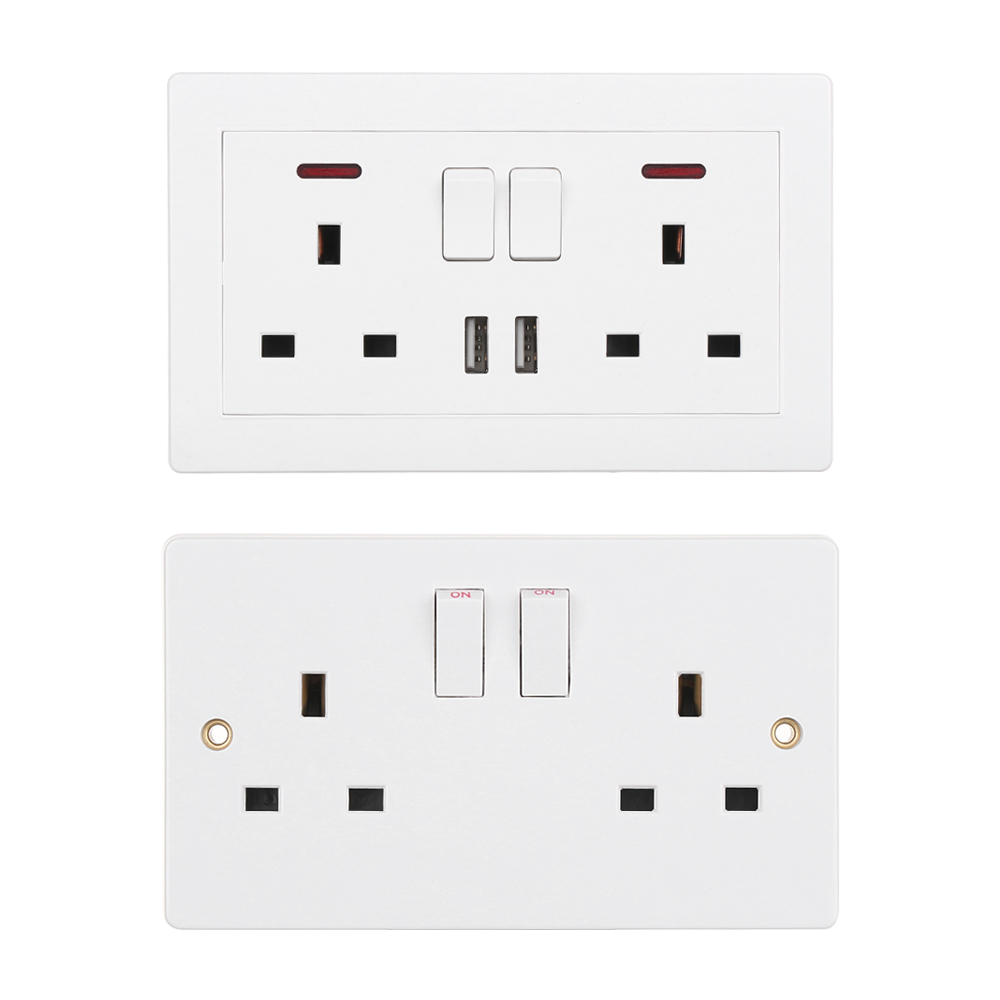 2//3//4//6 USB Port Wall Charger Outlet AC Power Receptacle Socket Plate Panel ed