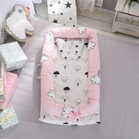 Portable Baby Bassinet Bed Baby Lounger Newborn Crib Breathable And Sleep Nest With Pillow New