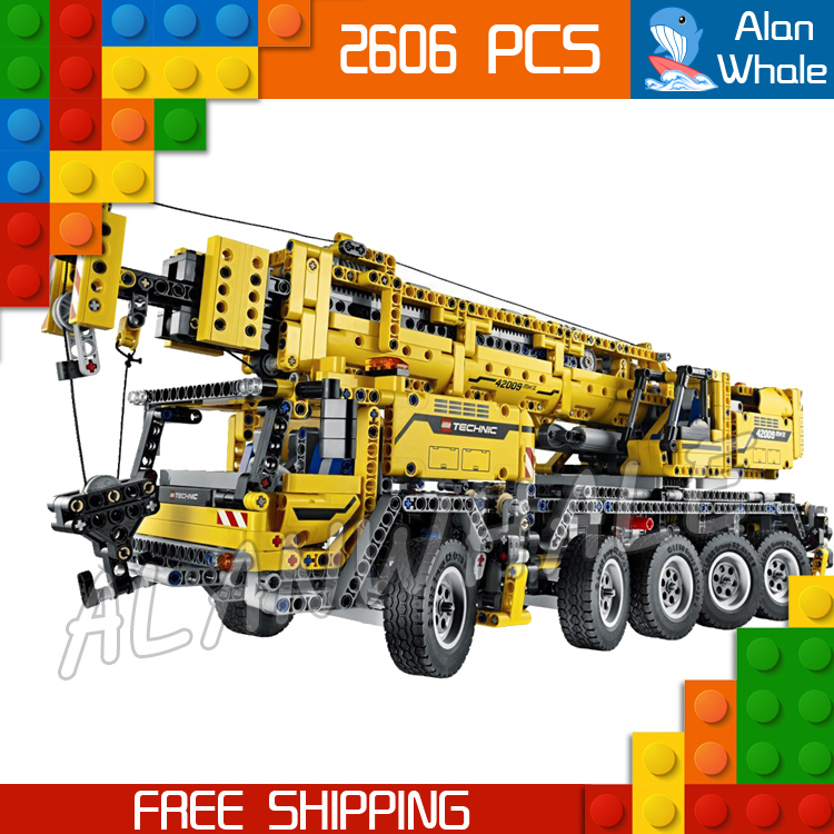 2606pcs New 20004 Technic Mobile Crane MK II Building Kit 3D Model Blocks Teenager Toys Bricks Set Machine Compatible with Lego аксессуар moon mk ii