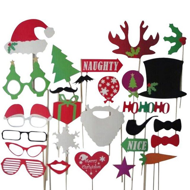 hoomall 1set photo booth props christmas party decorations wedding favor photobooth diy funny navidad birthday party