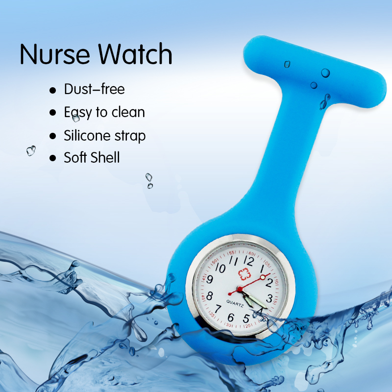 все цены на News quartz nurse watch 2017 silicone medical watches pocket fob brooch lapel watch with clip dropshipping gift