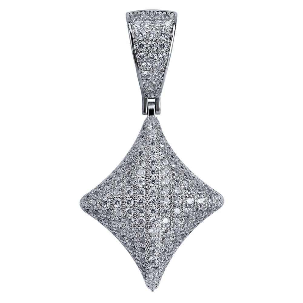 TOPGRILLZ Hip Hop pokera serce naszyjnik i wisiorek z 4mm łańcuch tenisowy złoty srebrny kolor Iced Out Cubic cyrkon męskie biżuteria prezenty