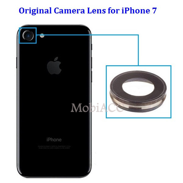 low priced 97887 f4aeb US $2.39 40% OFF|100% Original Camera Lens for iPhone 7 ; Back Camera Glass  Lens with Frame for iPhone 7 4.7 inch Black-in Mobile Phone Lenses from ...